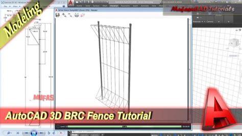 tutorial belajar lumion autocad 3d tutorial cara membuat pagar brc mufasucad com