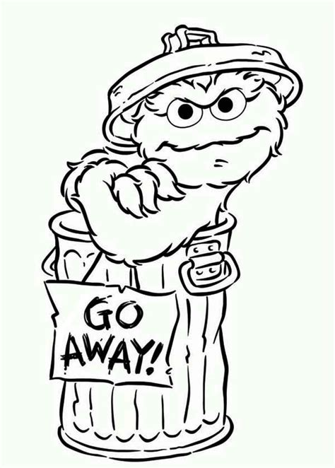 oscar the grouch coloring page coloring home