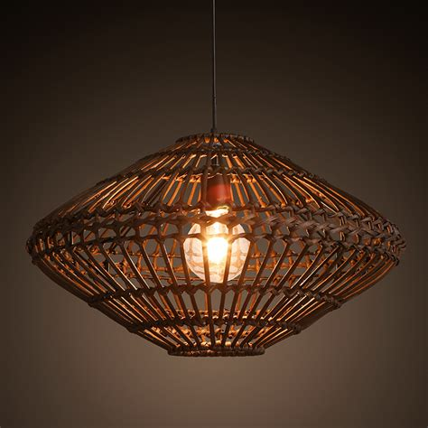 Asian Light Fixtures Southeast Asia Vintage Country Style Bamboo Wicker Rattan Pendant L Restaurant