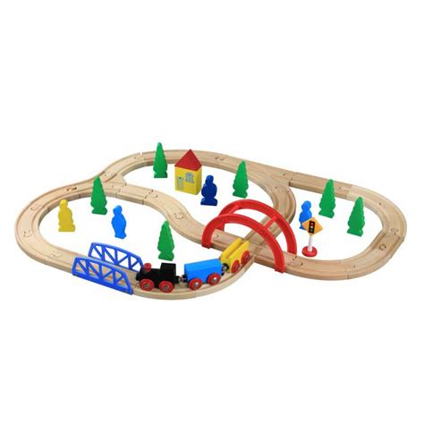 brio wooden train set brio thomas compatible wooden railway train set 40 pieces