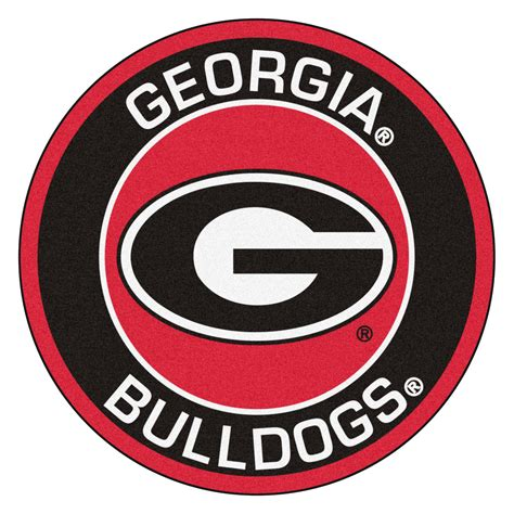 Unique Doormats by University Of Georgia Bulldogs Logo Roundel Mat 27 Quot