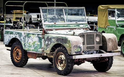 first range rover ever made first land rover series 1 made found in a garden