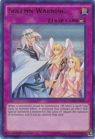Yugioh Converging Wishes Dusa En037 Ultra solemn warning dusa en085 ultra 1st edition
