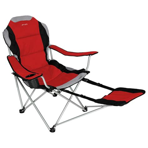 folding recliner chair with footrest xscape designs 174 sportline xl folding chair w footrest