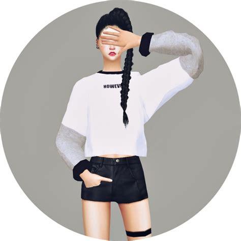 Shinta Batwing Top Cc batwing sleeve sweatshirt v2 at marigold 187 sims 4 updates