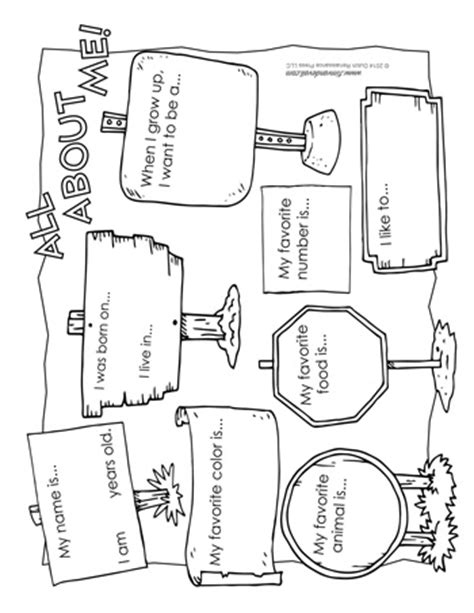 Fall Home Decorations by All About Me Worksheet Tim S Printables