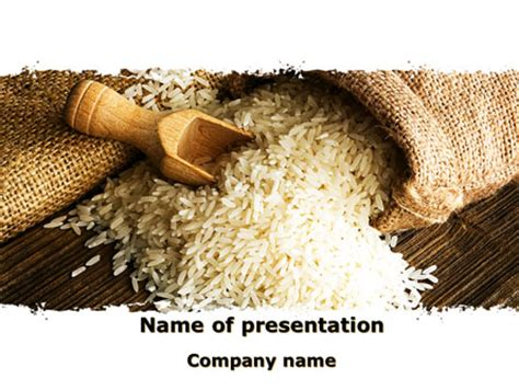 ppt templates for rice grains of rice powerpoint template backgrounds 09117
