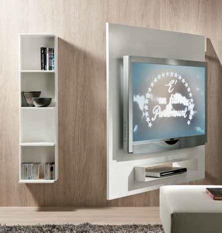 porta tv in cartongesso portatv girevole con pannello attrezzato sul retro