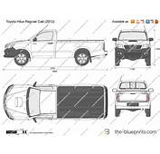 The Blueprintscom  Vector Drawing Toyota Hilux Regular Cab