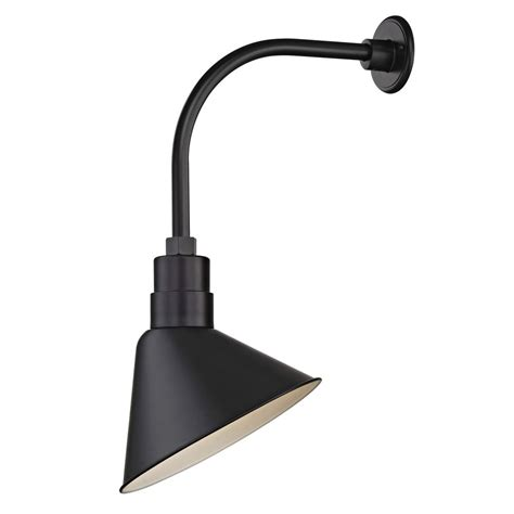 black gooseneck barn light barn light outdoor wall light black with gooseneck arm 12