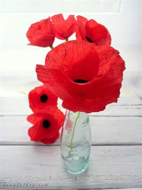 How To Make Paper Poppy Flowers - poppies paper flowers 183 how to make a bouquet 183 papercraft