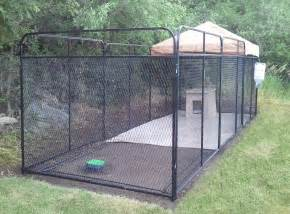 Building a dog run how to build dog kennel outdoor