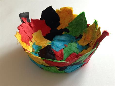 How To Make Paper Mache Easy - paper m 226 ch 233 bowl easy paper mache bowl paper m 226 ch 233 for