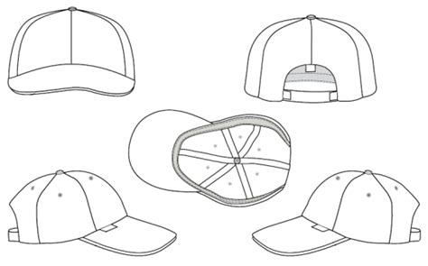 hat design template blank 5 panel hat template www imgkid the image