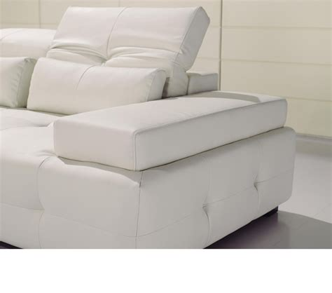 Dreamfurniture Com T90 Modern White Leather Sectional Sofa White Leather Modern Sofa