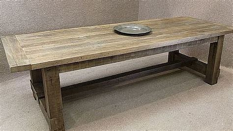 Unique Dining Room Lighting reclaimed oak table a chunky substantial table made with