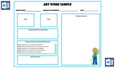 Art Work Sle Portfolio Template Now Available In Ms Word Aussie Childcare Network Portfolio Template Word