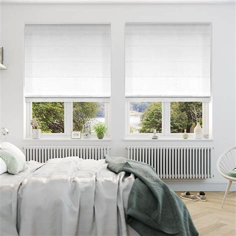 white bedroom blinds white roman blinds 2go made to measure incredible prices