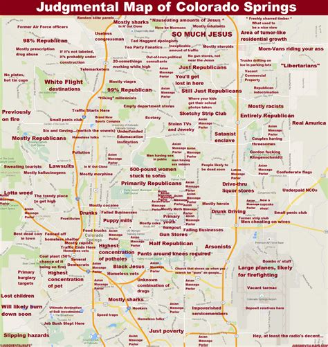 colorado springs co map judgmental maps colorado springs co by anonymous copr