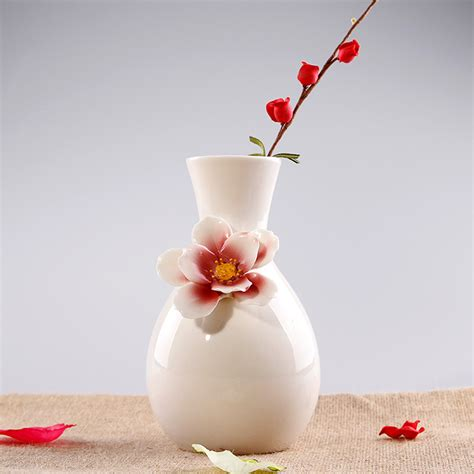 ceramic white glazed pots flowers vase designs home decor