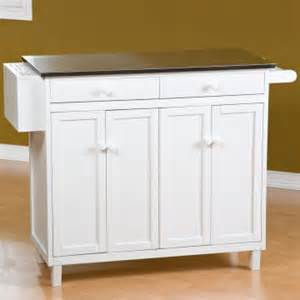 the randall stationary kitchen island with optional stools