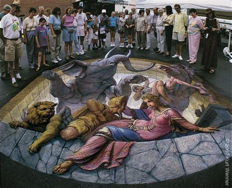 the inventor and master of 3d sidewalk chalk art kurt