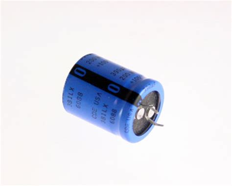 how do snap in capacitors work 10x 390uf 200v dc radial snap mount electrolytic capacitor 390mfd 200vdc 105c