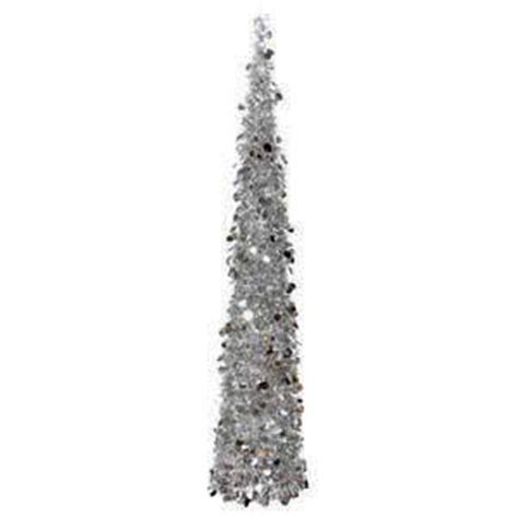 collapsible tinsel tree 5 ft danson decor 5 5 foot tinsel tree collapsible petals or silver ebay
