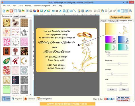 wedding card software wedding card design template studio design gallery