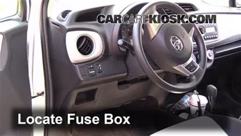 interior fuse box location: 2012 2016 toyota yaris 2012
