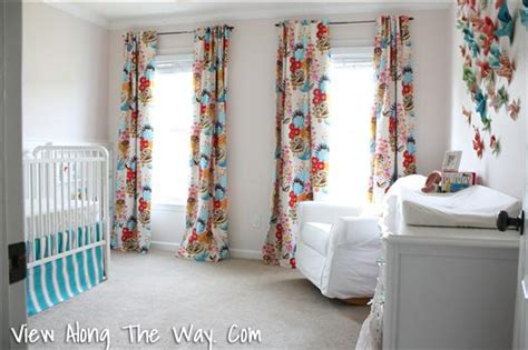 Diy Nursery Curtains The Nursery Reveal View Along The Way