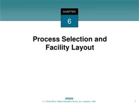 facility layout questions and answers ppt process selection and facilities layout powerpoint