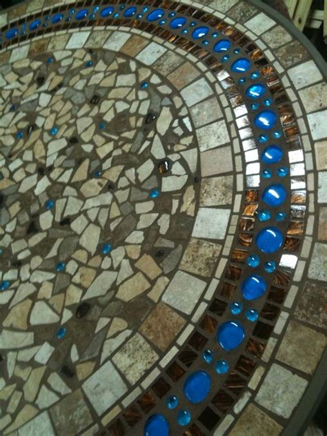 mosaic patio table have broken pottery i ve been saving