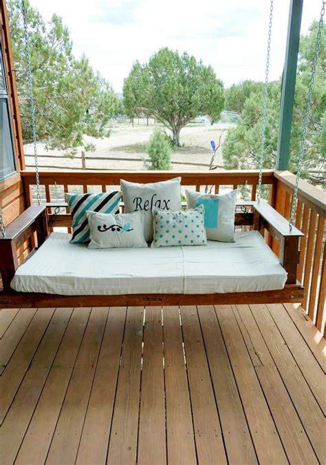 outdoor swing bed diy pallet swing bed outdoor living pallet swing beds
