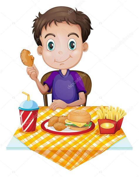 imagenes animadas almorzando un ni 241 o comiendo en un restaurante de comida r 225 pida