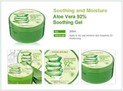 Nature Republic Aloe Vera Soothing Gel Lip Balm louivery shopping nature republic aloe vera 92