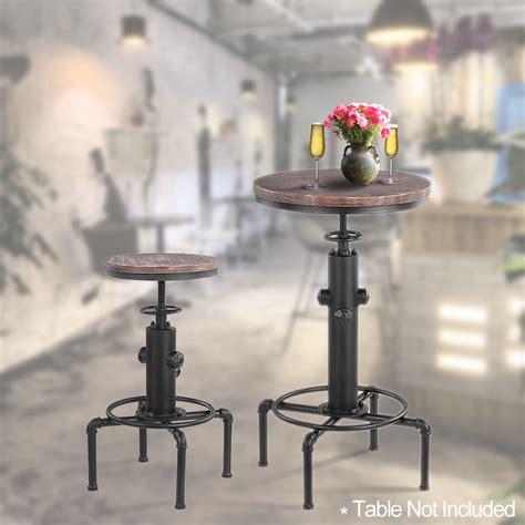 adjustable height dining chair wood ikayaa bar stool height adjustable swivel pinewood