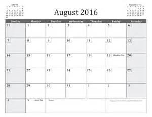 August 2016 calendar free printable when is calendar