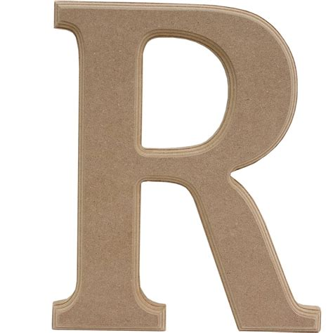 Wooden Letter R 27Cm | Hobbycraft R