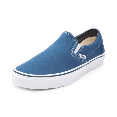 Vans Slipon vans slip on skate shoe blue 498541