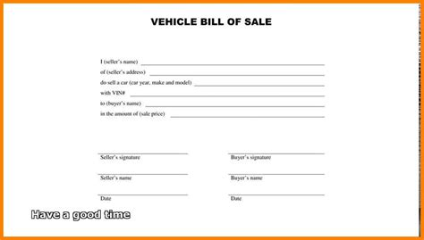 simple bill of sale simple bill of sale form printable template free sle