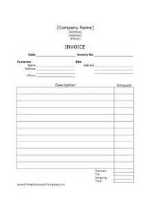 Work Invoice Template Free by Invoice Template