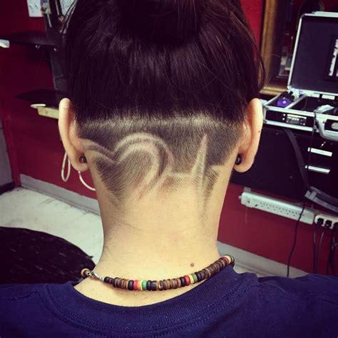 heartbeat hair tattoo valentine undercut heart hair pinterest heart