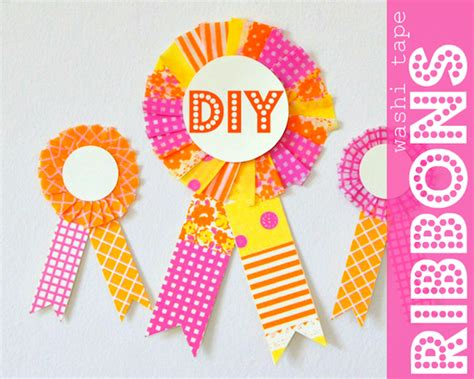 Oh My Handmade - celebrate the things diy washi ribbons oh
