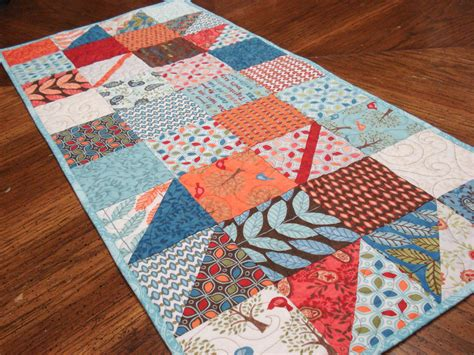 pdf pattern fall charmer quilted table runner charm square