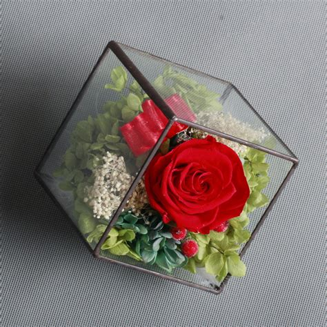 Box A Single Pink Preserved Flower Represent Gratitude single preserved in glass preserved flower for s day gift buy single flower