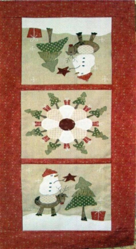 around the christmas tree table runner pattern by fig n