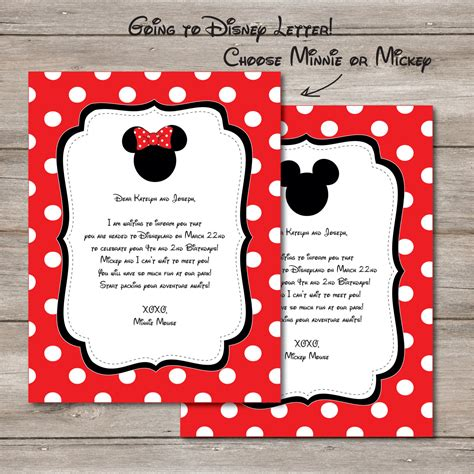 disney letter template you re going to disney letter disney trip announcement