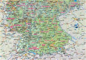 Map Of Southern Germany map of southern germany gemany map in the atlas of the