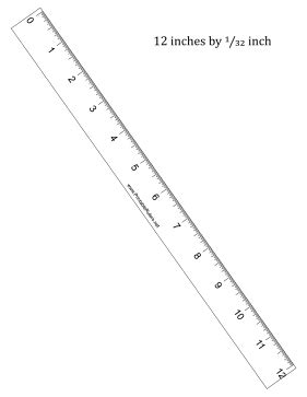 printable 12 inch ruler download this printable 12 inch ruler has 1 32 inch divisions free
